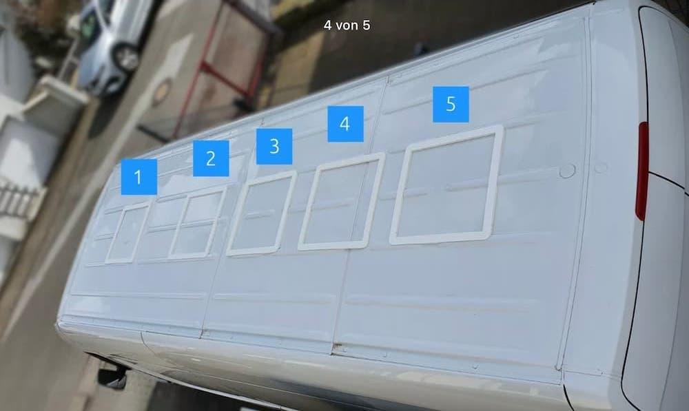 Adapterrahmen Dachfenster Sprinter