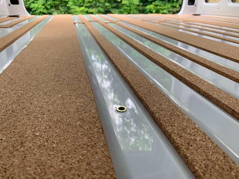 Sprinter Bodenplatte und Dämmung